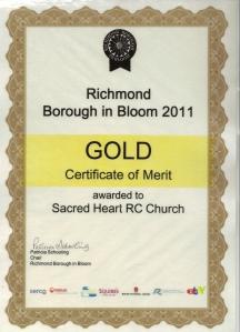 Gold Certificate 2011